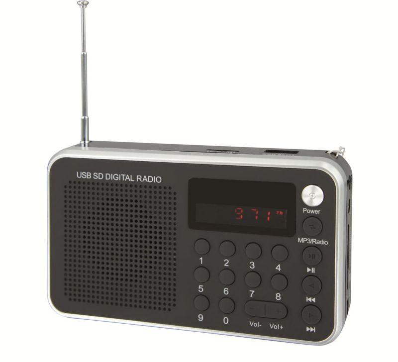 Soundmaster TR150SW Portables UKW Radio Schwarz