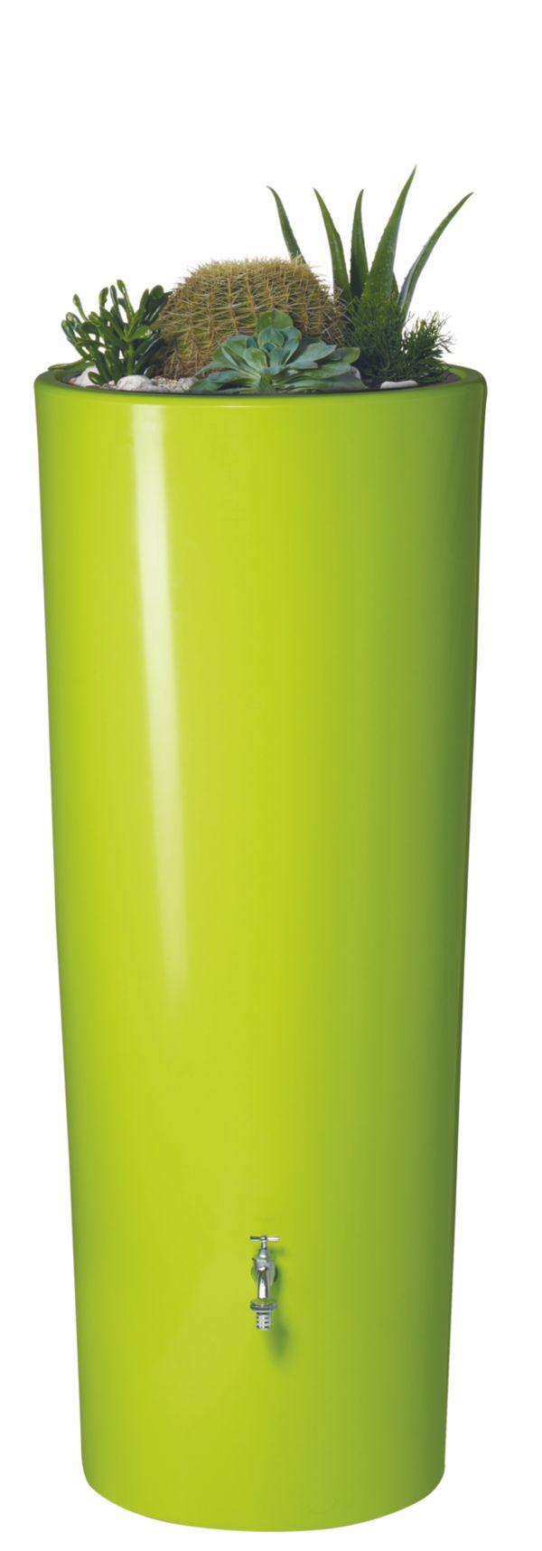 garantia color 2in1 design regenspeicher regentonne vers farben 350 liter ebay. Black Bedroom Furniture Sets. Home Design Ideas