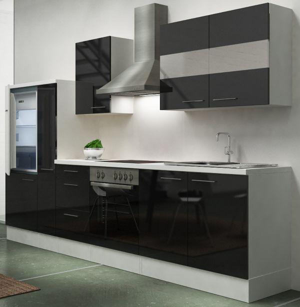 respekta premium k chenzeile rp300wwc 300 cm wei k chen k che vers farben ebay. Black Bedroom Furniture Sets. Home Design Ideas