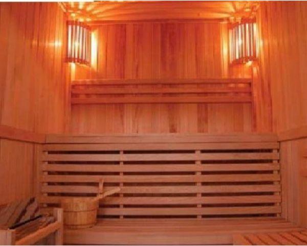 home deluxe sauna relax verschiedene gr en saunieren sauna holzsauna ebay. Black Bedroom Furniture Sets. Home Design Ideas