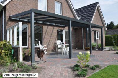 vp trading terrassen berdachung 400 x 350 aus aluminium inkl statik und vsg glas eindeckung. Black Bedroom Furniture Sets. Home Design Ideas