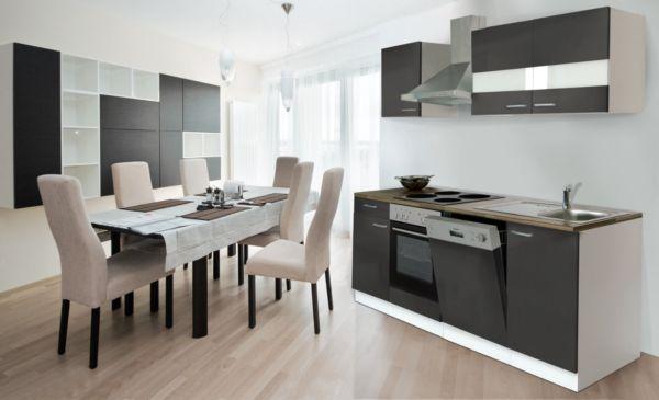 respekta k chenzeile kb220ww 220 cm wei k che k chen. Black Bedroom Furniture Sets. Home Design Ideas