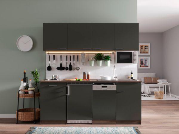 respekta k chenzeile kb195eywmi 195 cm eiche york nachbildung k che k chen ebay. Black Bedroom Furniture Sets. Home Design Ideas