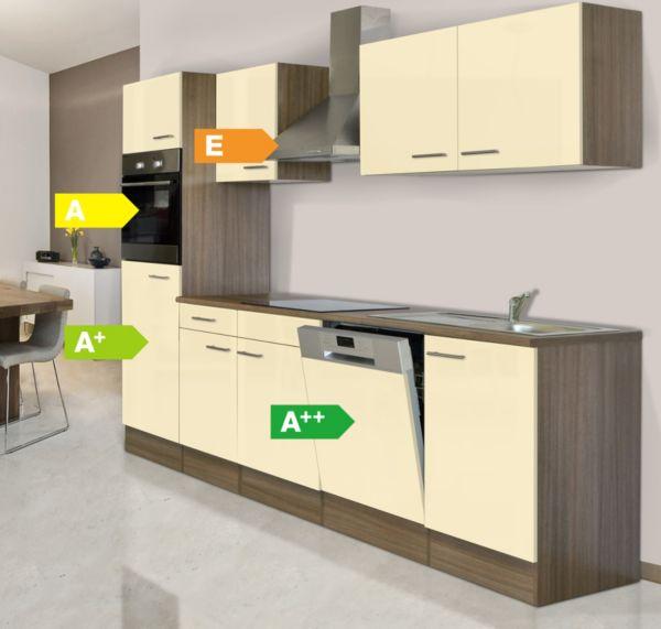 respekta k chenzeile kb280eyw 280 cm eiche york nachbildung k che k chen ebay. Black Bedroom Furniture Sets. Home Design Ideas