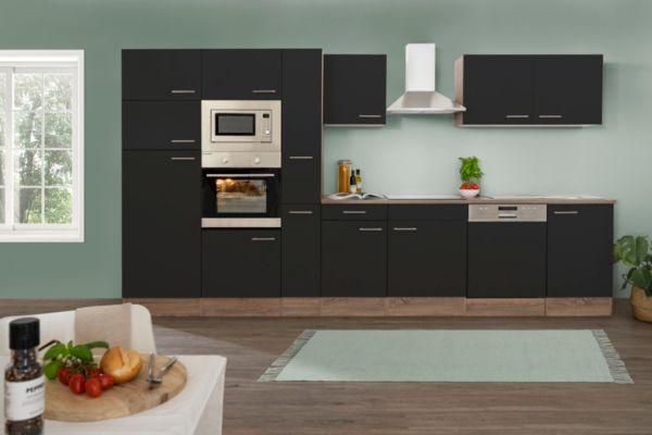 respekta k chenzeile kb370eywmigke 370 cm eiche york nachbildung k che k chen ebay. Black Bedroom Furniture Sets. Home Design Ideas