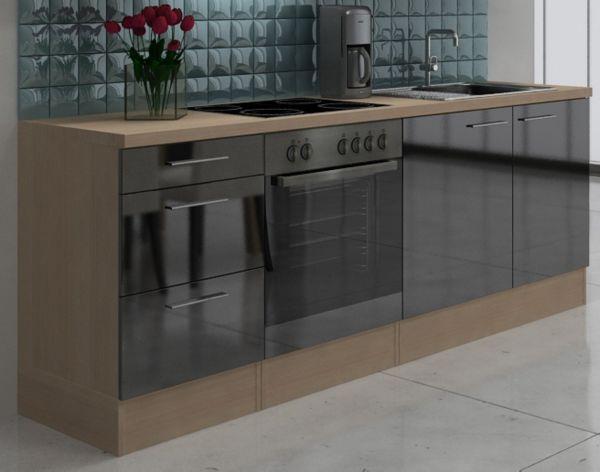 Küche 220 Cm : respekta premium k chenzeile rp220awc 220 cm wei akazie nachbildung k che ebay ~ Watch28wear.com Haus und Dekorationen