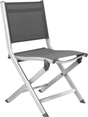 kettler balkonklappstuhl basic plus silber anthrazit. Black Bedroom Furniture Sets. Home Design Ideas