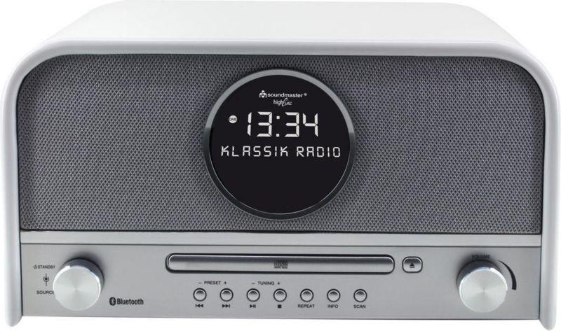 Soundmaster NR850WE Top Nostalgie Stereo DAB+ Radio mit CD und Bluetooth - weiß