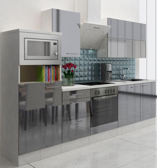 respekta premium k chenzeile rp280wwcmis 280 cm wei. Black Bedroom Furniture Sets. Home Design Ideas