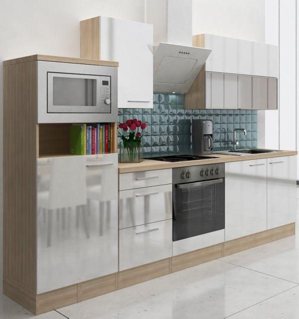respekta premium k chenzeile rp280awcmis 280 cm akazie nachb k chen k che ebay. Black Bedroom Furniture Sets. Home Design Ideas