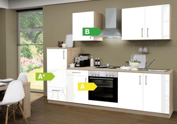 Menke Küchenzeile Premium ~ menke küchen küchenzeile premium lack 270 cm, küchenblock