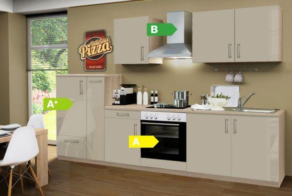 menke k chen k chenzeile premium lack 300 cm k chenblock k che k chen ebay. Black Bedroom Furniture Sets. Home Design Ideas