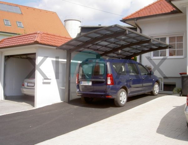 ximax portoforte 170 carport mattbraun oder edelstahl look garage unterstand ebay. Black Bedroom Furniture Sets. Home Design Ideas