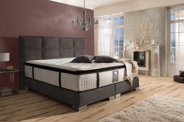 crown boxspringbett quadro deluxe hotelbett amerikanische betten schwedenbett ebay. Black Bedroom Furniture Sets. Home Design Ideas