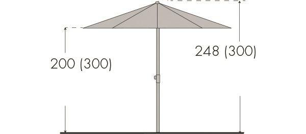 derby sonnenschirm basic lift ii 300 sonnenschutz gartenschirm kurbelschirm ebay. Black Bedroom Furniture Sets. Home Design Ideas