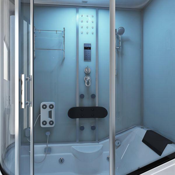 home deluxe all in 4in1 duschkabine wei versch ausf hrungen duschwand sauna ebay. Black Bedroom Furniture Sets. Home Design Ideas