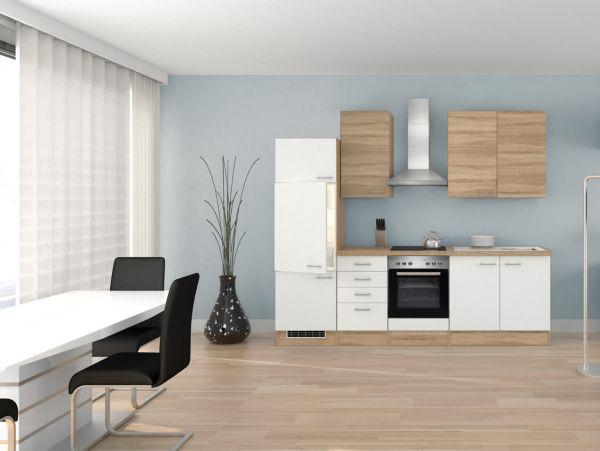 Flex-Well Küchenzeile 270 cm G-270-2210 + Haube 6091, Küchenblock ...