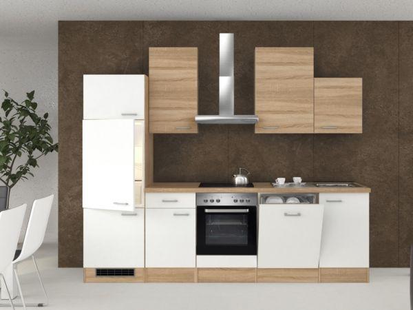 flex well k chenzeile 280 cm g 280 2301 000 k chenblock k che k chenm bel ebay. Black Bedroom Furniture Sets. Home Design Ideas