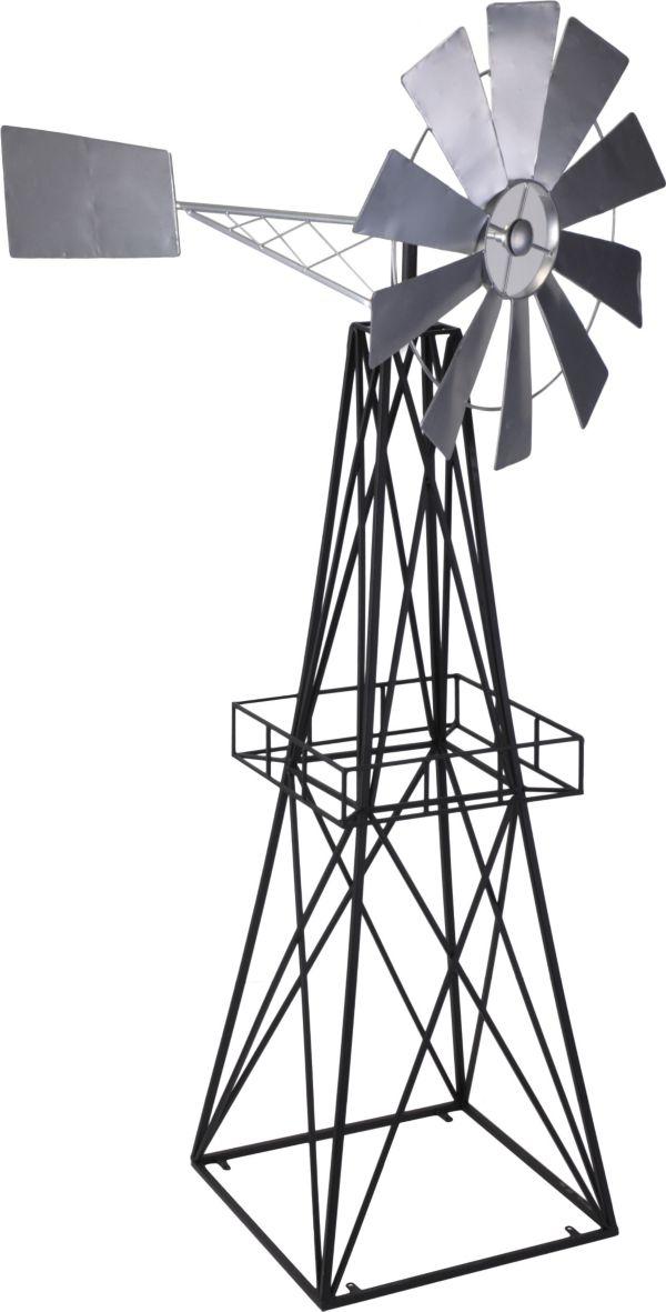 h s deko windm hle metall gartendekoration gartendeko windrad ebay. Black Bedroom Furniture Sets. Home Design Ideas