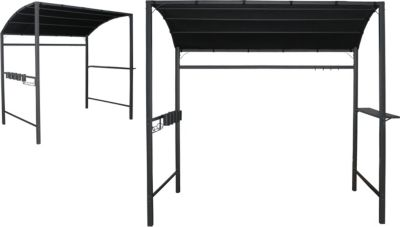 h s grill pavillon anthrazit 222x145 cm. Black Bedroom Furniture Sets. Home Design Ideas