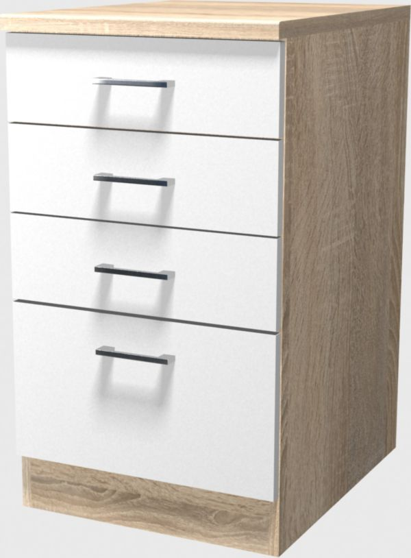 flex well schubkastenschrank 50 cm k chenschrank. Black Bedroom Furniture Sets. Home Design Ideas