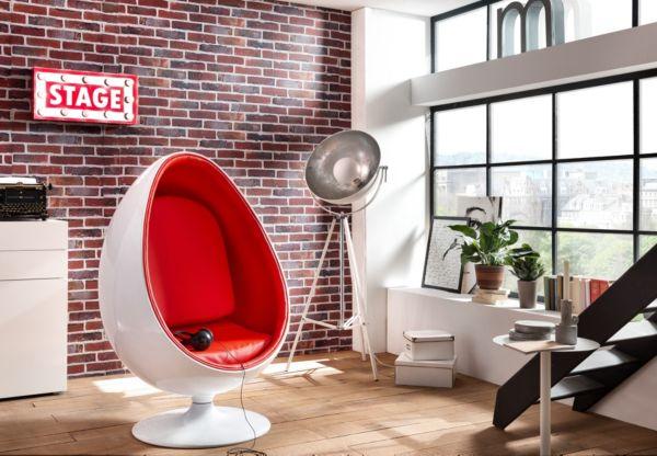 egg chair sessel ei sitzei design lounge clubsessel space age hochglanz ebay. Black Bedroom Furniture Sets. Home Design Ideas