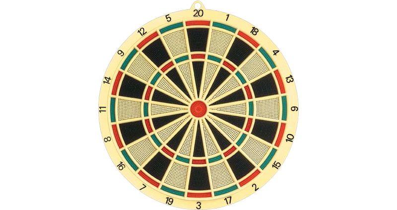 Soft Dartboard 37,5cm, 6 Darts & 6 Extra Tips