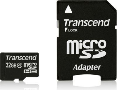 Transcend 32GB microSDHC Class 4 + SD-Adapter