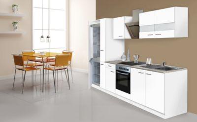 Respekta Küchenzeile KB300WWCGKE178 300 cm Weiß