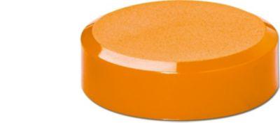 Maul Facetterand-Magnet MAULpro, Ø 30 x 10 mm, 0,6 kg Haftkraft, 20 St./Set - orange