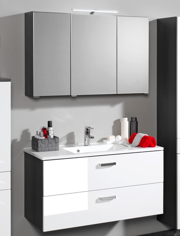 Held m bel bologna waschtisch spiegel set badschrank for Badschrank waschtisch