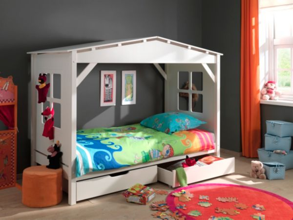 vipack furniture spielbett pino haus hochbett kinderbett kinderhochbett ebay. Black Bedroom Furniture Sets. Home Design Ideas