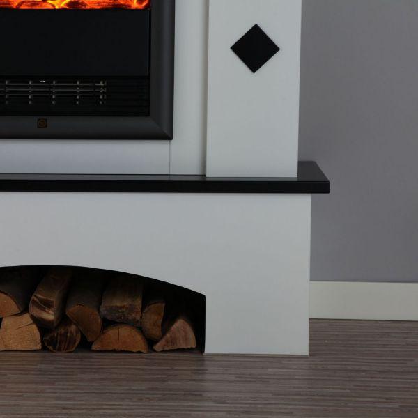 albero m bel elektrokamin toscana innenkamin elektrofeuer kaminofen ebay. Black Bedroom Furniture Sets. Home Design Ideas