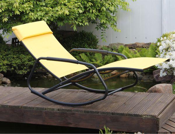 LECO-Schaukelsessel-Schaukelliege-Gartenliege-Sonnenliege-Relaxliege-Liege