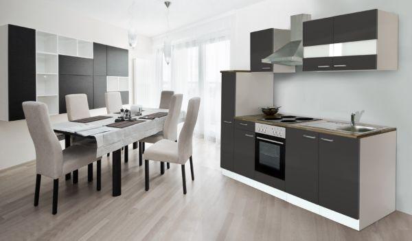 respekta k chenzeile kb240ww 240 cm wei k chenblock k che k chen ebay. Black Bedroom Furniture Sets. Home Design Ideas