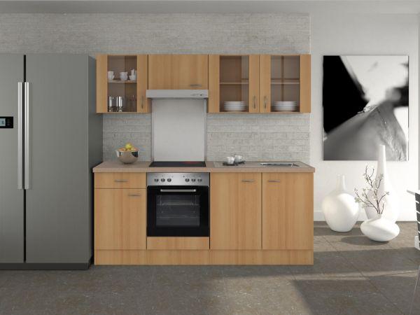 flex well k chenzeile 210 cm g 210 1601 003 k chenblock einbauk che k che ebay. Black Bedroom Furniture Sets. Home Design Ideas