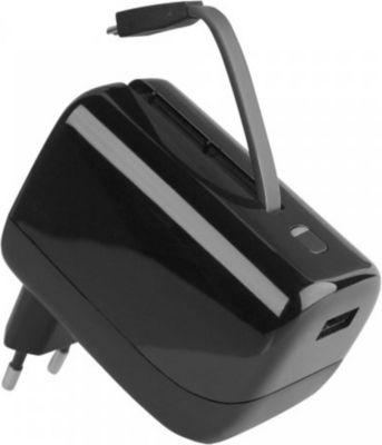 Fontastic Ladegerät mit Powerbank, Micro USB, 5200mAh Schwarz