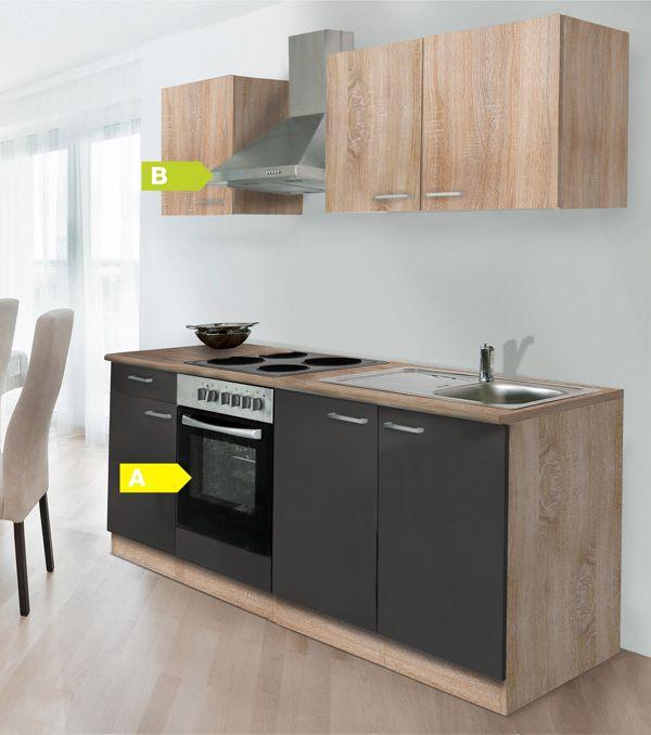 respekta k chenzeile kb210eswoes 210 cm eiche sonoma. Black Bedroom Furniture Sets. Home Design Ideas