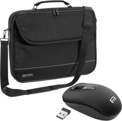PEDEA Notebooktasche ´´Fair´´ 39,6 cm (15,6´´), schwarz + PC Maus