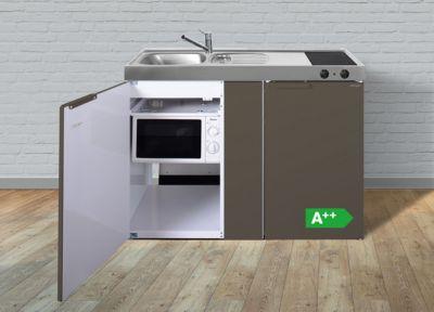 Stengel Küchen Kitchenline MKMBM 120 Tiefbraun matt - Glaskeramikkochfeld rechts