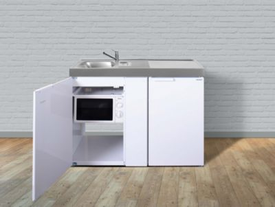 Stengel Küchen Kitchenline MKM 120 weiß - Teepantry links