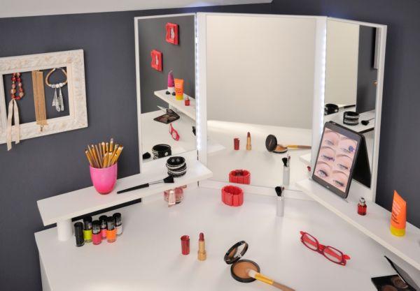 parisot eck schminktisch volage 11 12 ecktisch schminktisch schminkschrank ebay. Black Bedroom Furniture Sets. Home Design Ideas