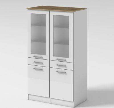 Held Möbel Vitrine Seattle 100 cm Hochglanz Weiß