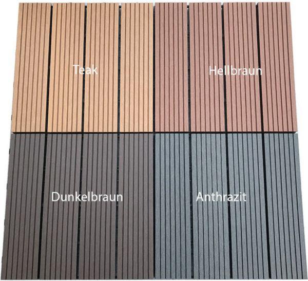 Berühmt Home Deluxe WPC Terrassenfliesen, WPC-Fliesen, Bodenbelag YO26