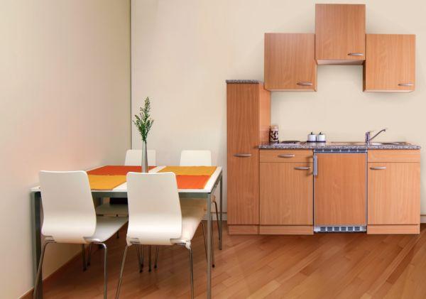 Respekta kuchenzeile kb180bb 180 cm buche nachbildung for Küchenzeile 180 cm breit