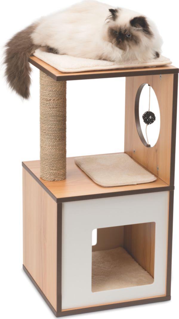 Vesper v box small verschiedene farben spiel und - Casas para gatos de madera ...