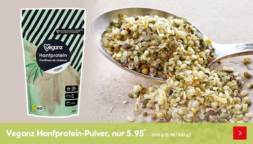 BIO Veganz Hanfprotein-Pulver, nur 5.95*