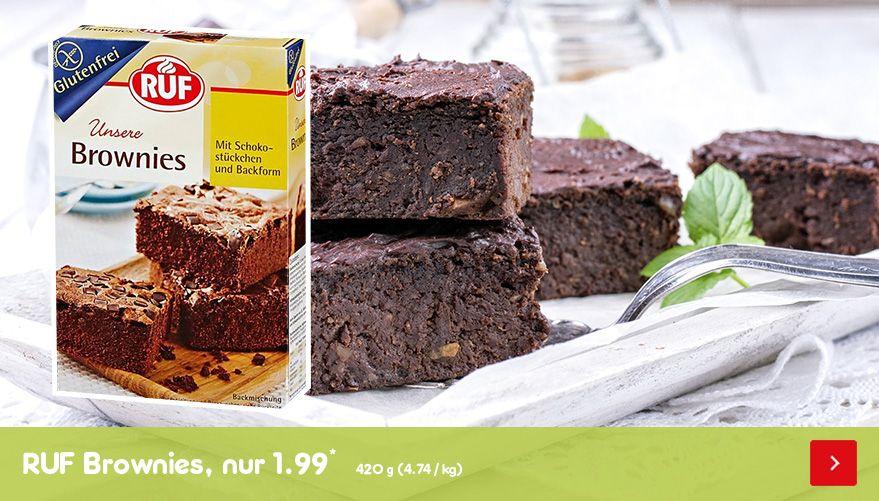 RUF Brownies glutenfrei, nur 1.99*