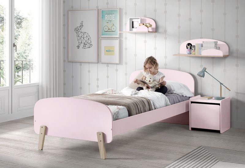 Vipack Einzelbett Kiddy 90x200 cm - Rosa
