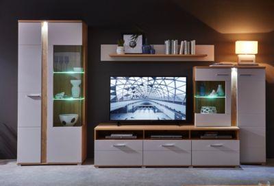 iNNOstyle Wohnprogramm Spurt II inkl. LED-Beleuchtung - Champagner/Gran Oak Gold